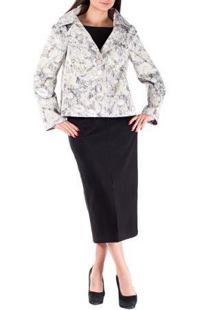 Комплект с юбкой Mannon. Цвет: желто-молочный