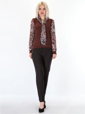 Блузка HELLO MODA!. Цвет: коричневый