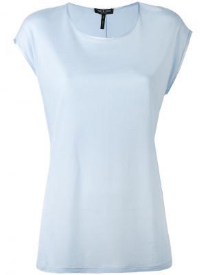 Однотонная футболка Rag & Bone. Цвет: синий