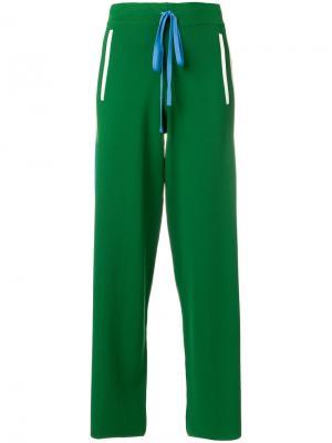 Расклешенные брюки Runner P.A.R.O.S.H.. Цвет: зелёный