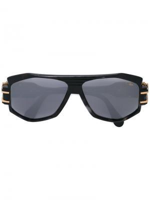 Солнцезащитные очки  с геометрической оправой Cazal. Цвет: чёрный
