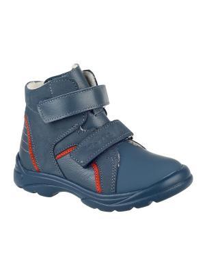 Ботинки Тотто. Цвет: голубой