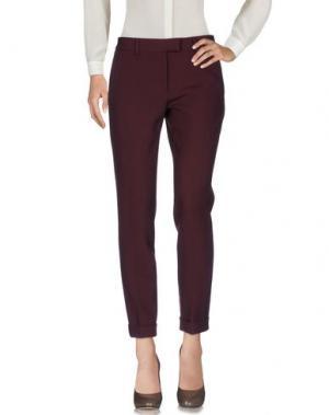 Повседневные брюки ATELIER ARCHIVIO. Цвет: баклажанный