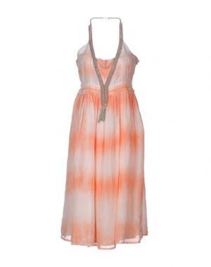 Платье длиной 3/4 EYEDOLL. Цвет: лососево-розовый