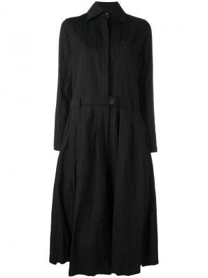 Платье шифт с эффектом помятости Area Di Barbara Bologna. Цвет: чёрный