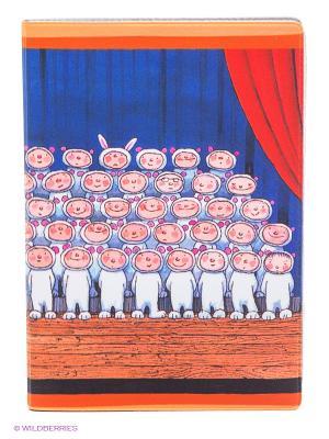Обложка для автодокументов Мальчики-зайчики Mitya Veselkov. Цвет: синий, коричневый, красный