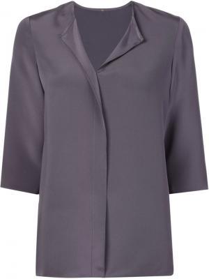 Шелковая блузка Peter Cohen. Цвет: серый