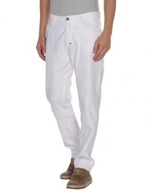 Повседневные брюки GET LOST. Цвет: белый