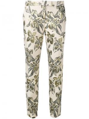 Узкие брюки с принтом Christian Pellizzari. Цвет: телесный
