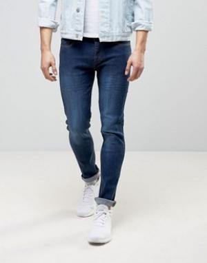 Loyalty & Faith Темно-выбеленные джинсы скинни and Beattie. Цвет: синий