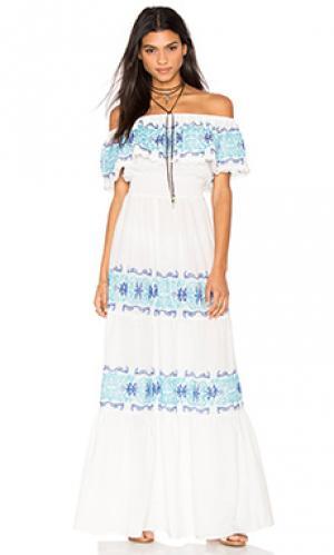 Макси платье greek isle Nightcap. Цвет: белый