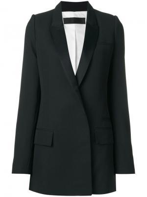 Блестящий пиджак Calder Haider Ackermann. Цвет: чёрный