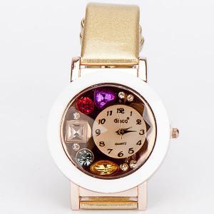 Часы Звездный час бижутерный сплав, арт. WT-112 Бусики-Колечки. Цвет: желтый