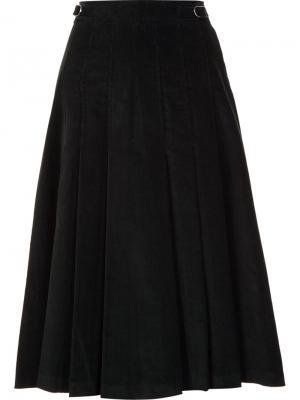 Плиссированная юбка с высокой талией Gabriela Hearst. Цвет: синий