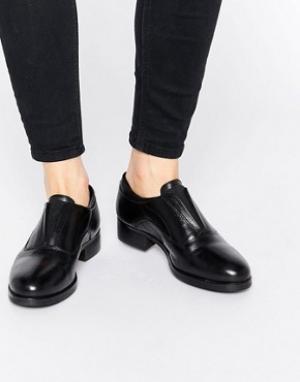 Ravel Массивные кожаные туфли на плоской подошве. Цвет: черный
