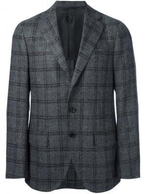Пиджак в клетку Caruso. Цвет: серый