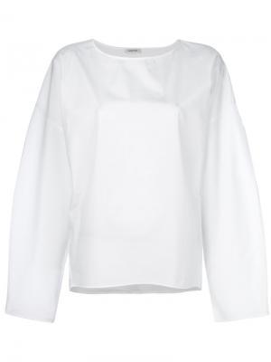 Блузка Manresa Toteme. Цвет: белый