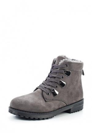Ботинки Exquily. Цвет: серый