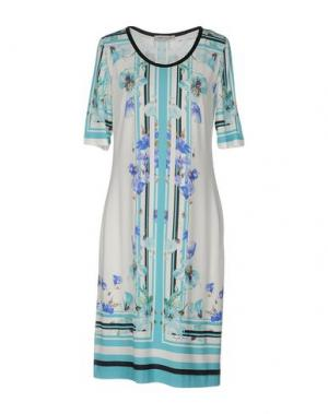 Платье до колена ANGELO MARANI. Цвет: белый