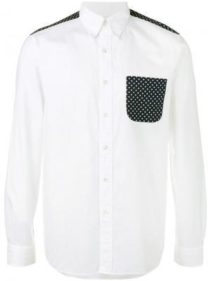 Рубашка с нагрудным карманом Sophnet.. Цвет: белый