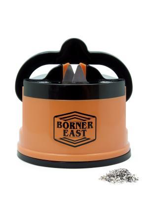 Ножеточка c вакуумным креплением к столу Borner. Цвет: оранжевый