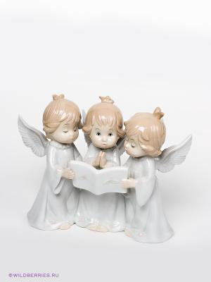 Фигурка Три ангела Pavone. Цвет: молочный (осн.), бежевый