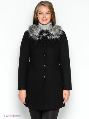 Пальто TOPSANDTOPS. Цвет: черный