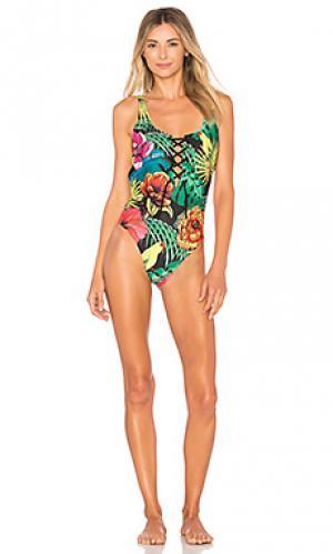 Слитный купальник julia Agua Bendita. Цвет: зеленый
