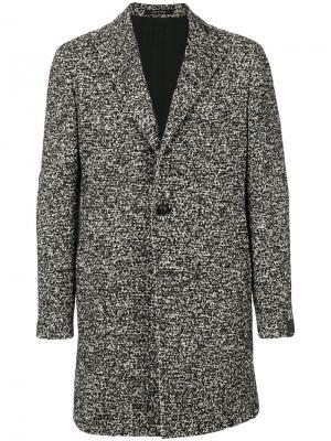 Однобортное пальто Tagliatore. Цвет: чёрный