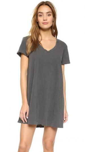 Платье-трапеция с V-образным вырезом Wilt. Цвет: серый