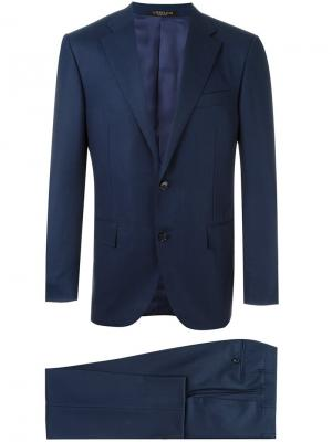 Peaked lapels formal suit Corneliani. Цвет: синий