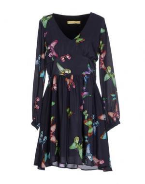 Короткое платье ANA PIRES. Цвет: свинцово-серый