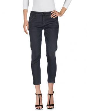 Джинсовые брюки-капри GOLDSIGN. Цвет: свинцово-серый
