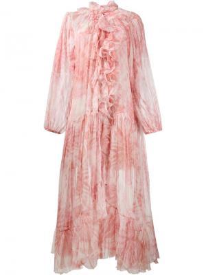 Платье Winsome Zimmermann. Цвет: розовый и фиолетовый