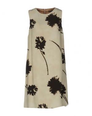 Короткое платье MALÌPARMI. Цвет: бежевый