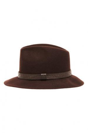 Коричневая шляпа из фетра Gucci. Цвет: коричневый