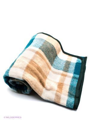 Плед-подушка РУНО. Цвет: бежевый, зеленый, молочный