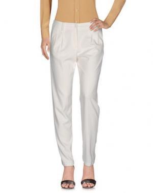 Повседневные брюки BARONI. Цвет: слоновая кость