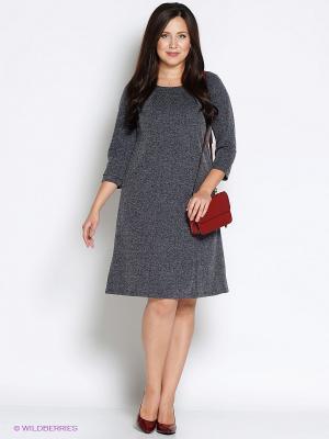 Платье Битис. Цвет: серый меланж