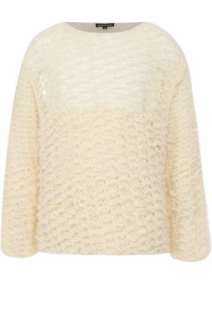 Шерстяной свитер свободного кроя Ann Demeulemeester. Цвет: белый