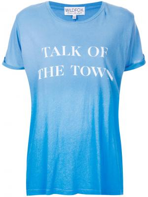Talk of the Town T-shirt Wildfox. Цвет: синий