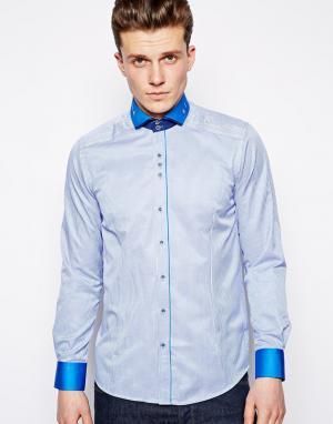 Guide London Рубашка в полоску. Цвет: синий