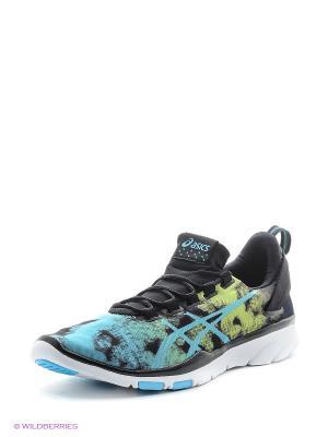 Спортивная обувь GEL-FIT SANA 2 ASICS. Цвет: голубой, черный, желтый