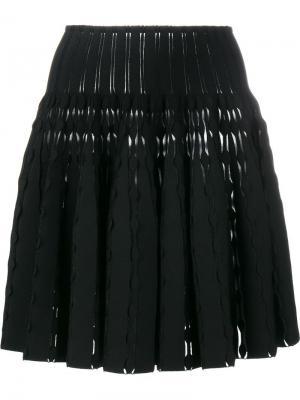 Расклешенная юбка мини Alaïa. Цвет: чёрный
