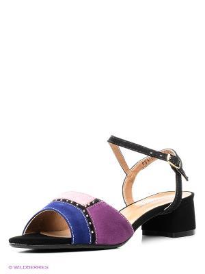 Босоножки Francesco Donni. Цвет: фиолетовый, черный, сиреневый, лиловый