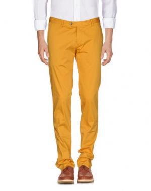 Повседневные брюки SARTORIA LATORRE. Цвет: охра