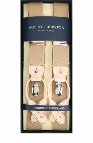 Подтяжки с кожаной отделкой Albert Thurston. Цвет: бежевый