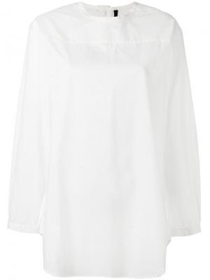 Блузка свободного кроя Sara Lanzi. Цвет: белый