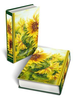 Декоративная шкатулка из МДФ Подсолнухи Magic Home. Цвет: желтый