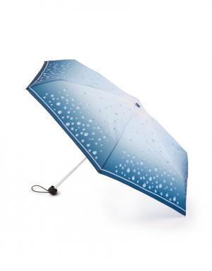 Зонт механический Капли дождя Henry Backer. Цвет: голубой